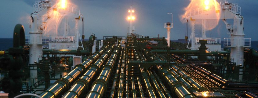 Oil Processing Plant Pipeline in Sakhalin, Russia